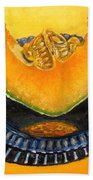 Cantaloupe Oil Painting Beach Towel