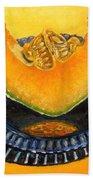 Cantaloupe Oil Painting Beach Sheet