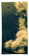Canvas Seagulls Beach Towel