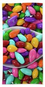 Candy Covered Sunflower Seeds Beach Towel
