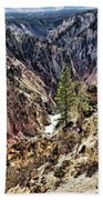 Canyon And Lower Falls Beach Towel
