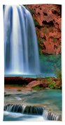 Canyon Falls Beach Towel by Scott Mahon