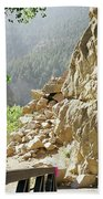 Canyon Rocks Horizontal Beach Towel