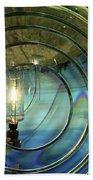 Cape Blanco Lighthouse Lens Beach Towel