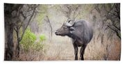 Cape Buffalo In A Clearing Beach Towel