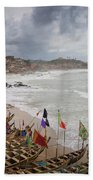Cape Coast Fishing Village Beach Towel