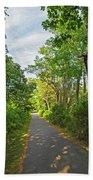 Cape Cod Rail Trail Trees Eastham Ma 2 Beach Towel