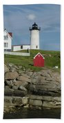 Cape Neddick Light Beach Towel