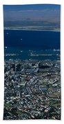 Capetown South Africa Aerial Beach Towel
