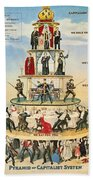 Capitalist Pyramid, 1911 - To License For Professional Use Visit Granger.com Beach Towel