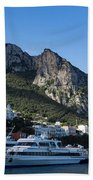 Capri Island Harbor  Beach Towel