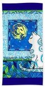 Capricorn Cat Zodiac Beach Towel