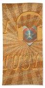 Captain America Lullaby Original Digital Beach Towel