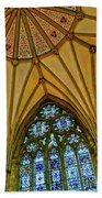 Chapter House Ceiling, York Minister Beach Towel