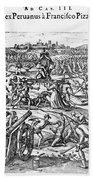 Capture Of Atahualpa, 1532 Beach Towel