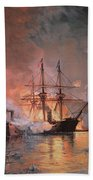 Capture Of New Orleans By Union Flag Officer David G Farragut Beach Towel