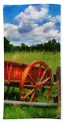 Car - Wagon - The Old Wagon Cart Beach Towel