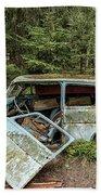 Car Graveyard In Smaland Beach Towel