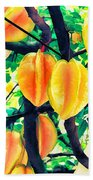 Carambolas Starfruits Beach Towel
