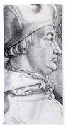 Cardinal Albrecht Of Brandenburg 1523 Beach Towel