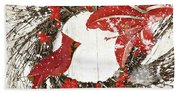 Cardinal Holiday I Beach Sheet