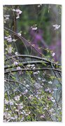 Cardinal In Flowering Tree Beach Towel