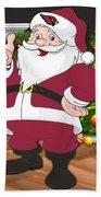 Cardinals Santa Claus Beach Towel