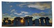 Carhenge - Nebraska - Sunset Beach Towel