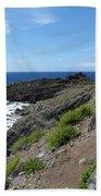 Caribbean Coastal Path Beach Towel