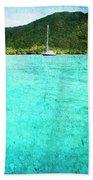 Caribbean Cruising Beach Towel