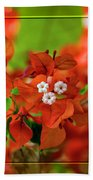 Caribbean Floral Surprise Beach Towel