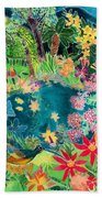 Caribbean Jungle Beach Towel