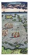 Caribbean Map Beach Towel