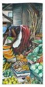 Caribbean Market Day Beach Sheet
