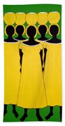 Caribbean Yellow Beach Towel