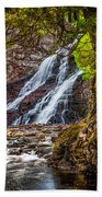 Caribou Falls In Fall Beach Towel