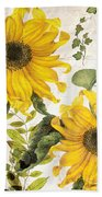 Carina Sunflowers Beach Towel