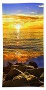 Carlsbad Sunset Beach Towel