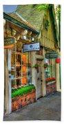 Carmel, Ca. The Shops Of Ocean Ave. Beach Towel