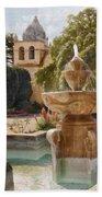 Carmel Fountain Courtyard Beach Towel