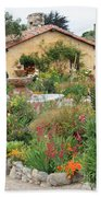 Carmel Mission Courtyard Garden Beach Towel