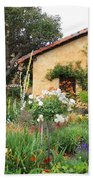 Carmel Mission With Path Beach Towel