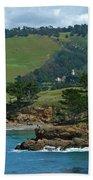 Carmelite Monastery Near Point Lobos Beach Towel