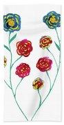 Carnations Beach Towel