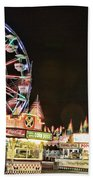 carnival Fun and Food Beach Towel