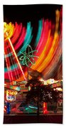 Carnival In Motion Beach Towel