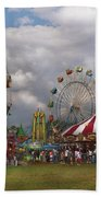Carnival - Traveling Carnival Beach Towel by Mike Savad