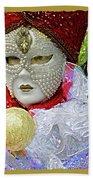 Carnivale Mask #10 Beach Towel