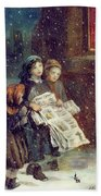 Carols For Sale  Beach Towel by Augustus Edward Mulready