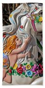 Carousel Horse And Angel Beach Towel